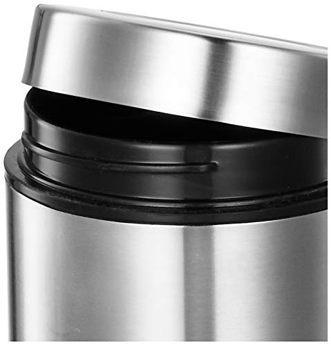 Amazon Brand - Solimo Stainless Steel See Through Containers, Set of 2 (700 ml each)