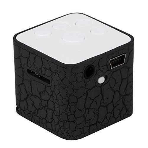 Mini Lautsprecher, Tragbar Speaker Bunte Crack LED-Licht Kleine Lautsprecher Resonanzkörper Würfel Unterstützung Micro SD/TF-Karte Externe Karte MP3 Cube Lautsprecher