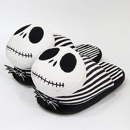 DSFS Pantofole da Donna Flip Flop Pantofole Peluche Peluche Scarpe in Cotone Doll Skulster Mostro Mostro Halloween Pantofole del Fumetto Interno (Colore: 2, Dimensioni della Scarpa: 9)