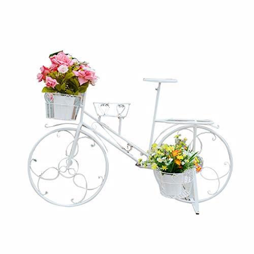 Ljf Apoyos decorativos Florista Expositor Adornos Adornos Exterior Europeo Flotador de hierro forjado Estante de la flor de la bicicleta de múltiples capas Decoración de la boda Soporte de la flor Ben