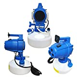 4L Electric ULV Fogger Sprayer Mosquito Disinfection Machine Killer Insecticide Atomizer, Multifunction Adjustable Angle 3 Nozzles, Suitable for Hospitals, Hotel, 1 pc