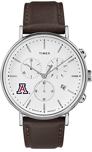 Timex MensArizona Wildcats Watch Chronograph Leather Band Watch