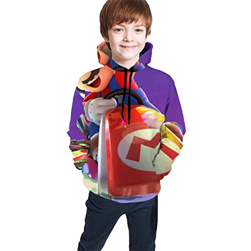 wang hua1 Kinder Hoodies Mit Kapuze Super Mario Kart Teen Hoodie Sweatshirt Casual Hat Pocket Pullover Sweaters Boys Girls