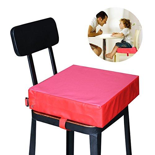 NUOLUX Esszimmer Stuhl Booster Kinder Kissen Baby-Sitze (rot)