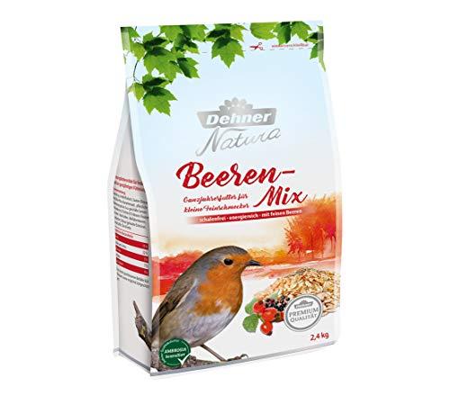 Dehner Premium Natura Nourriture pour Oiseaux Sauvages, mélange Baies sans Coque, 2,4 kg