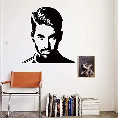 Etiqueta de la pared de vinilo DIY Niño dormitorio decoración para el hogar Jugador de estrella de fútbol de España Sergio Ramos Avatar calcomanía deportiva de fútbol póster regalo para niños