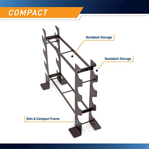 Marcy Compact Dumbbell Rack Free Weight Stand for Home Gym DBR-56 , Black, 20.50 x 8.50 x 27.00 inches