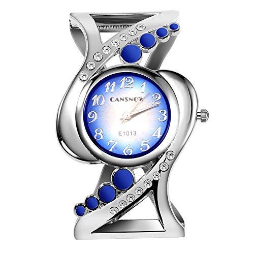 XJS Reloj de Moda Especial Moda Mujer mira el Cristal de Cuarzo Reloj de Pulsera de Las Mujeres para Mujeres (Color : Blue)