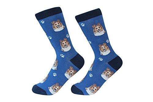 Shetland Sheepdog Sheltie Dog Breed Socks Unisex Sock Daddy by E&S...