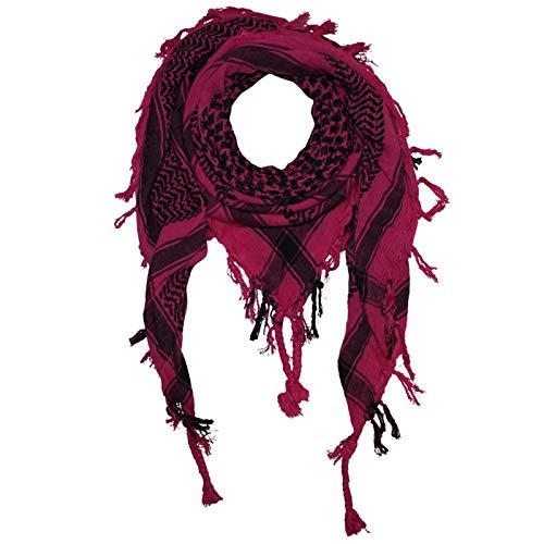 Superfreak Palituch - pink - schwarz - 100x100 cm - Pali Palästinenser Arafat Tuch - 100% Baumwolle