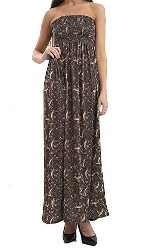 Fashion Review–Vestito da donna Gold Paisley Print 48-50