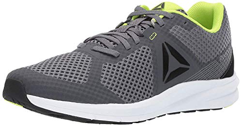 Reebok Men's Endless Road Running Shoe, Cold Grey/Black/neon Lime/White, 7 M US