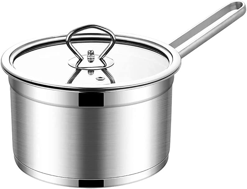 LXDZXY Pots Stock Max 69% OFF 67% OFF of fixed price Pot Saucepan Stainless with Tempered Lid Glass