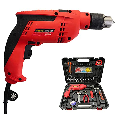 650W Power Hammer Impact Drill Variable Speed Electric Corded Drill 240V with 104Pcs Accessories