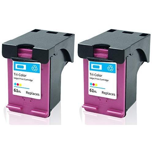 SXCD 61xl Cartucho de Tinta, reemplazo de Alto Rendimiento para HP DeskJet 1000 1015 1510 3510 Envy 4500 5530 OfficeJet 2620 4630 Cartuchos de Tinta de Impresora Negro y 2 Tri-Color