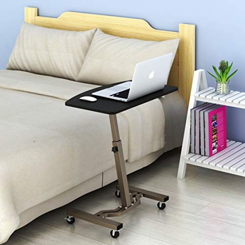 LeCrozz Height Adjustable Mobile Laptop Stand Desk Rolling Cart