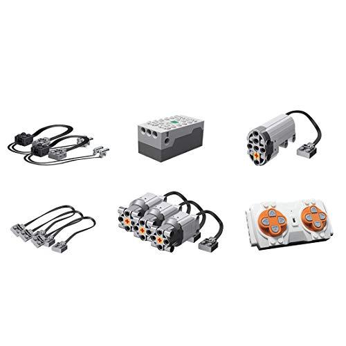 PEXL Technik Power Functions Set: 3 L-Motor, 1 Servomotor, 1 Akku-Box, 1 Fernbedienung, 2 LED Licht, 3 Verlängerungskabel