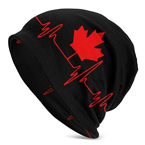 shenguang Heartbeat Canada Frauen Männer Einfarbige Mütze - Stretchy & Soft Winter...