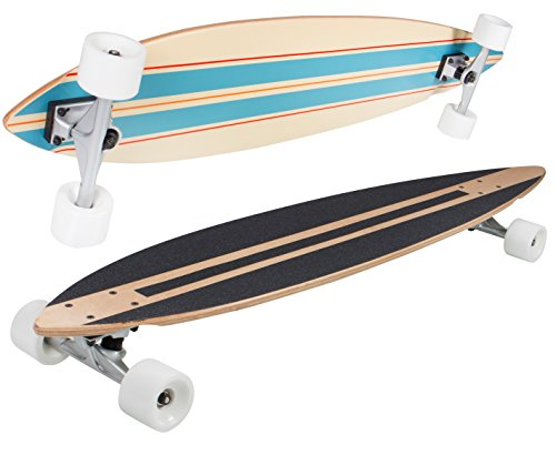 SportPlus Low Concave Skateboard, Azul y rojo, Talla Única