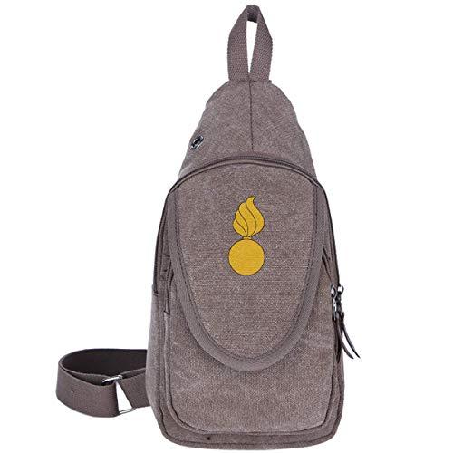 US Army Ordnance Branch Abzeichen Canvas Brusttasche Outdoor Sling Rucksack Perfekt für lässige Reisen Wandern