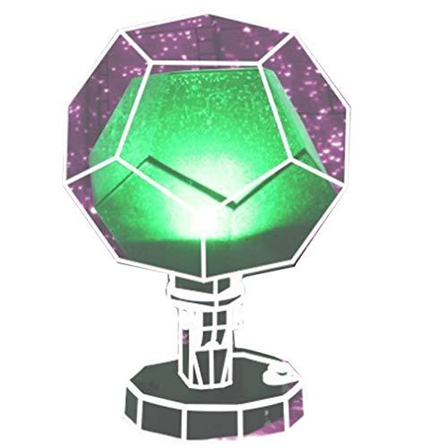 Planetario Proiettore Stelle Natale 60000 Stelle Luce stellare Proiettore Cielo Assemblaggio Fai-da-Te Lampada planetario per la casa con Telecomando