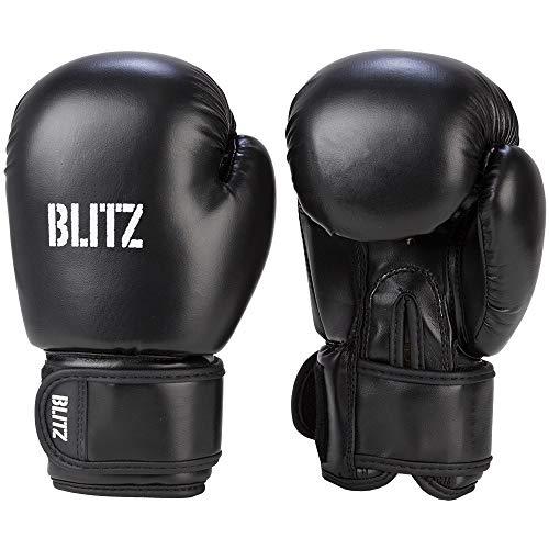 Blitz Unisex, Jugendliche Kids Omega Boxhandschuhe, Schwarz, Einheitsgröße