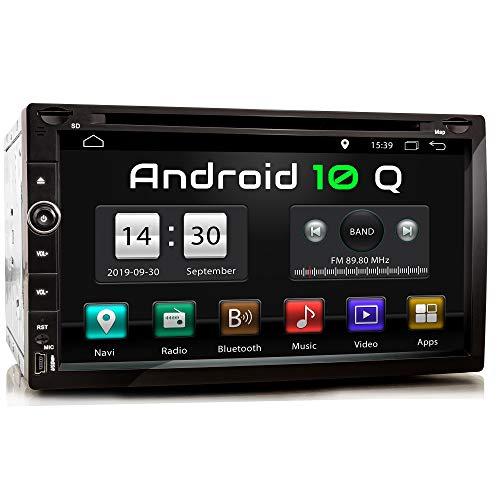 XOMAX XM-2DA758 Autoradio con Android 10 I Quad Core, 2GB RAM, 32GB ROM I Navigatore GPS I Supporto WIFI, 4G, DAB, OBD2 I Bluetooth I Touch Screen 6,9'' I DVD, CD, USB, SD, RDS I 2 DIN