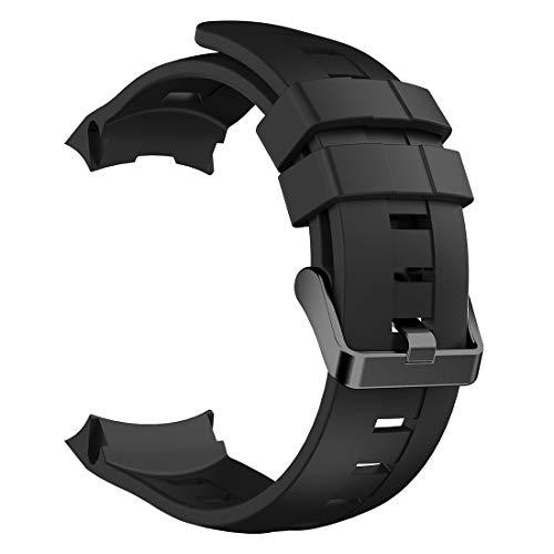 ZDL-ZNSB-001Watches Qw Voor Suunto Ambit3 Verticale Siliconen Horlogebanden, Breedte: 24 mm (zwart) ZDL-ZNSB-001Watches, Zwart
