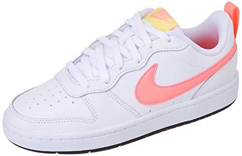 Nike Court Borough Low 2 (GS), Zapatillas de bsquetbol, Blanco White Sunset Pulse Lt Zitron Black, 38.5 EU