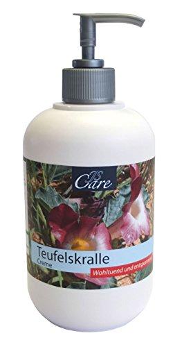 Heim & Büro JS-Care Teufelskralle Creme 500 ml Spender | Salbe | Balsam | bei Rücken- und Gelenkschmerzen | Schmerzlindernd | Abschwellend | Entzündungshemmend