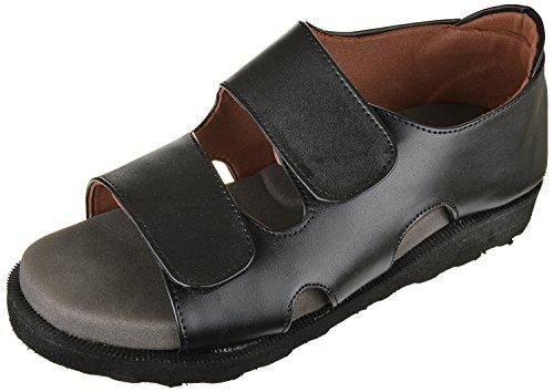 Ortho & DiaCare Men's Black Orthopaedic Sandal - 7