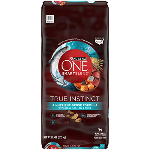 Purina ONE High Protein Natural Dry Dog Food, SmartBlend True Instinct With Real Salmon & Tuna - 27.5 lb. Bag