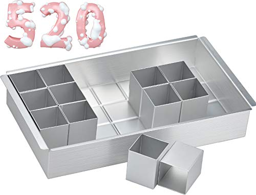 Molde de Tortas Rectangular, Utensilios Hornear Aluminio con