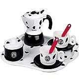 Set Cappuccino Caffettiera Mukka Giocattolo con 2 Tazze cucchiaini e sottobicchieri 7 Pezzi Giochi per Bambini Idea Regalo Made in Italy