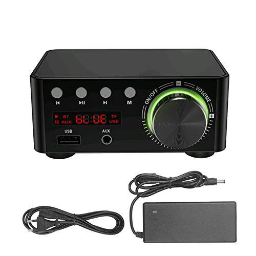 Keifen HIFI BT5.0 digital Mini de o estéreo 100W Receptor de o de potencia de sonido de doble canal AMP estéreo USB AUX para cine en casa Reproductores de tarjetas USB TF