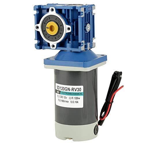 Zelfremmende DC-motor, 12 V / 24 V, 120 W, RV30, snelheid van de wormwielmotor regelbaar met de klok mee/tegen de klok in (12V)