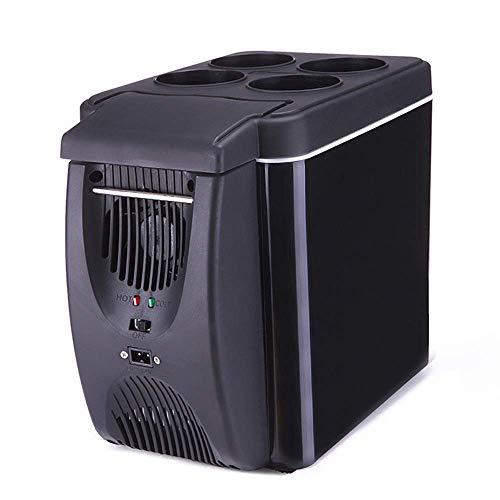 Mini Nevera Silencioso 6 litros / 8 Latas Refrigerador y Calentador Pequeño Refrigerador Compacto AC/DC para Dormitorio, Cosméticos, Medicamentos, Hogar y Viajes