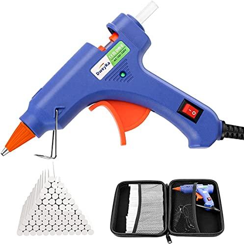 Dweyka Pistolet à Colle Chaude 75pcs Bâtons Chauffrage Rapide et Sûr Pistolet à Colle 20W, y compris un sac à outils, Anti écoulement pour Réparation,...
