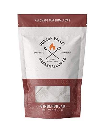 Hudson Valley Marshmallow Co Gourmet Marshmallows Gingerbread 4oz Pack of 6