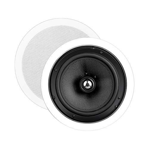 """OSD Audio 8"""" in-Ceiling Speaker Pair – 150W Stereo Speakers, Pivoting Tweeter, ICE840"""