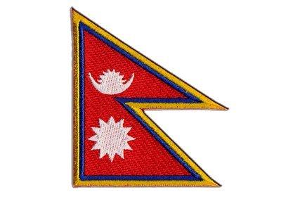 Aufnäher Patch Flagge Nepal - 8 x 6 cm