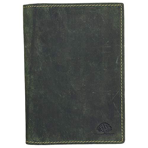 Greenburry Greenburry Vintage Leder Ausweismappe 6 Fächer für Ausweis Dokumente olive