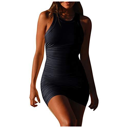 VEMOW Sommer Elegante Damen Leibchen Bodycon Sleeveless beiläufige tägliche Party Beach Holiday Mini Kleid Mode Kleid