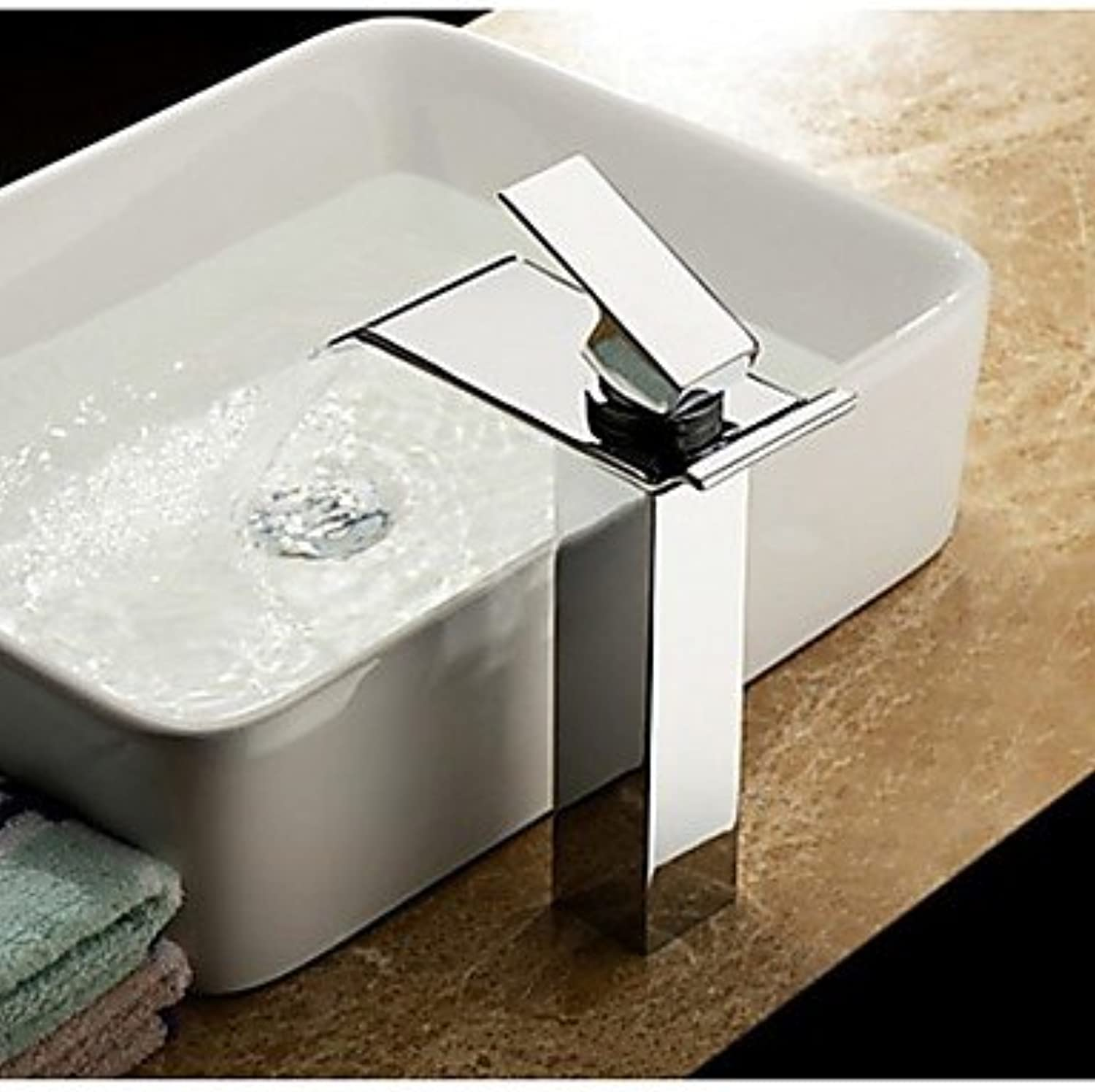 GDS Faucet£? Chrome contemporary waterfall bathroom sink faucet