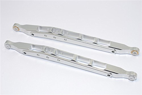 Axial SMT10 Grave Digger (AX90055) Upgrade Pièces Aluminium Front/Rear Lower Chassis Link Parts - 1Pr Set Silver