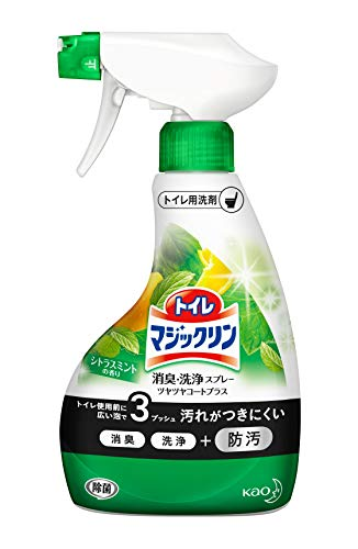 トイレマジックリンツヤツヤコートプラストイレ用洗剤消臭・洗浄スプレーシトラスミントの香り本体380ml