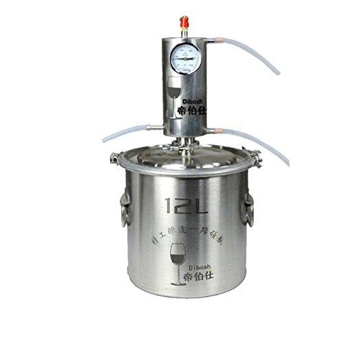 DIY 10~20 L Litro Nuevo CASA Alambique Destilador COBRE/Acero Inoxidable Destilación Enfriador...
