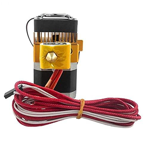 Runfon Kit di Elemento per estrusore MK8 con 3D Filament J Head Hot Extrusion Printer Parts 0.04cm ugello
