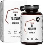 nu3 Cúrcuma Orgánica - 200 cápsulas con kurkuma molida - Tabletas veganas de cúrcuma con pimienta - Alto contenido de piperina natural + extracto de pimienta negra -