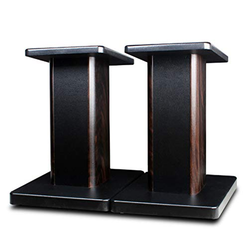 MAYQMAY 15.74 inch(40cm) Wood Speaker Stands, 1 Pair, Stands for Home-Cinema HiFi Bookshelf Box and Satellite Speakers Wood Grain Enhanced Audio Listening Experience for Home Theaters